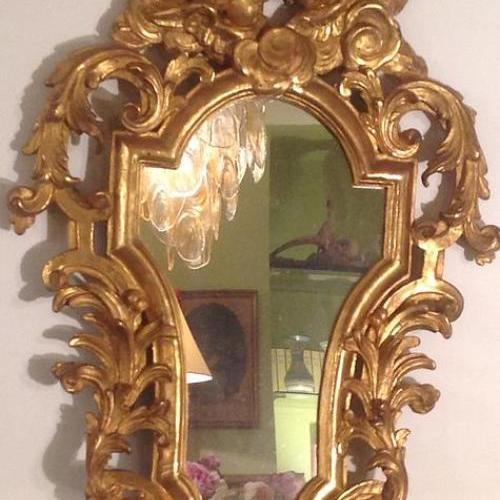 Miroir en bois doré XVlll