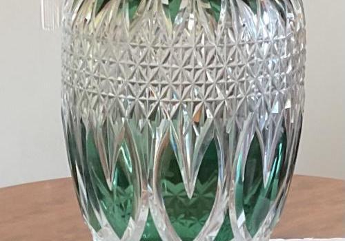Vase en cristal du val saint Lambert art deco