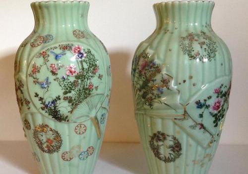 Paire de grand Vases en céramique