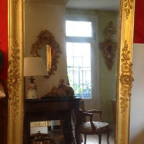 Miroir doré époque restauration