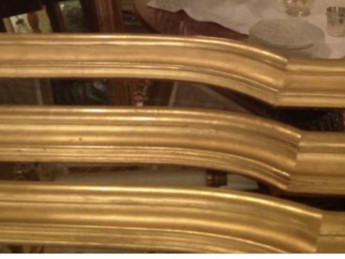 3 Cantonnières en bois doré
